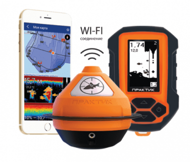 Эхолот Практик 7 BWF(универсал) Wi-Fi, маяк,блок, датчик.